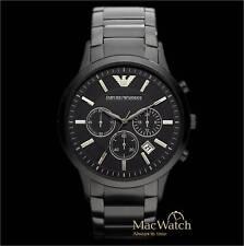 Emporio Armani  Herren Uhr AR2453 Schwarz Edelstahl Chronograph Klassik NEU OVP