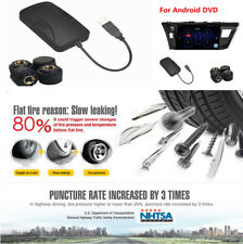 Car Tire Pressure Alarm System  4 Sensors TPMS For ANdroid DVD Player USB Kits