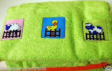 2 X Farmland Baby Nappy Change Mat * Waterproof Washable Lime + Orange