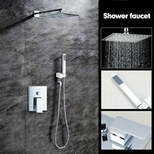 Wall Mount Rain 8 inch Shower Head Mixer Valve Hand Held Shower Sprayer Faucet
