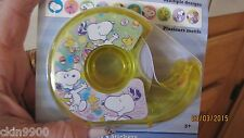 Peanuts Snoopy Easter Stickers in an Adhesive Tape dispenser 400 Stickers New