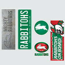 NRL South Sydney Rabbitohs Set of 5 UV iTag Bumper Decals / Stickers