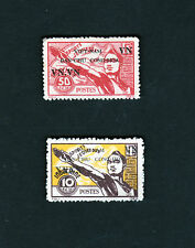 2 Indochina Indochine Vietnam Stamps MNH Athlete Sport Youth Overprint Sc 1L4-5