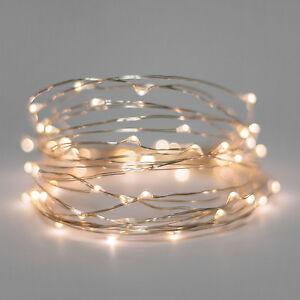 5 set 20 Warm White LED Bulb fairy light battery wedding table centrepiece 2mtr