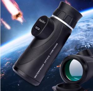 10x50 HD Monocular Optics Portable Waterproof Zoom Telescope For Hunting Outdoor
