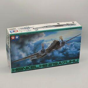Tamiya Heinkel He219 A-7 UHU German Aircraft 1/48 Airplane Model Kit # 57 OpenBx