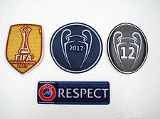 2017 UEFA CHAMPIONS LEAGUE Real Madrid  SET Soccer patch 12 TROPHY badge / patch