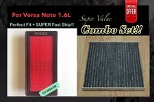 ENGINE&CARBONIZED CABIN AIR FILTER For VERSA 2012-2016 VERSA NOTE QUALITY FILTER