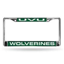 Utah Valley State Wolverines Chrome Metal Laser Cut License Plate Frame