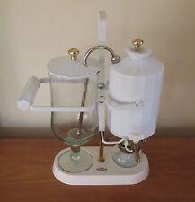 PERCO RETRO 800 ML BALANCE COFFEE MAKER BELGIUM WHITE PORCELAIN VGC RARE