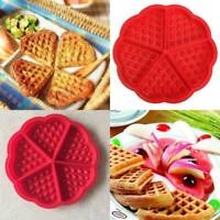 Silicone Waffle Mold Maker Pan Microwave Baking Cookie Cake Muffin Bakeware US