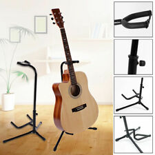 Electric Acoustic Bass Guitar Stand A Frame Floor Rack Holder 64 ~ 74mm Durable