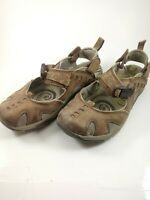 Merrell Brown Espresso Leather Marry Jane Sandals Shoes Women's 6.5 Buckle