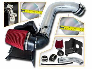 BCP RED 04-05 Silverado LLY 6.6L V8 Diesel Heat Shield Cold Air Intake Kit