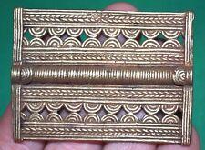 Antique Baule Brass Lost Wax Cast Metal Pendant Bead Ivory Coast, African Trade