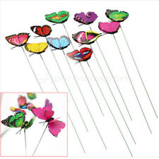 10pcs Butterfly On Sticks Popular Art Garden Yard Vase Lawn Craft Decor New