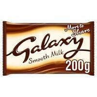 3X Galaxy Smooth Milk Chocolate Bar 200g ***FREE UK DELIVERY***