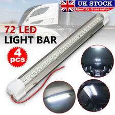 2x 72 LED 12v Car Interior White Strip Light Bar Lamp Van Caravan on off Switch