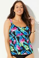 $48 NWT DAINTREE Sz 18 Flared Tankini Workout Top Swimsuits for all 700