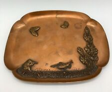 Antique 19th C. Gorham Copper Tray Japonesque Aesthetic Period Grasshopper