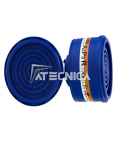 2 Filters Cartridge 2040 A2P3 R Att. Dupla Semimascher Protection spasciani