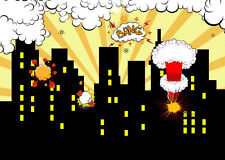 Super Hero City Background Photo Props Vinyl Photography Backdrops Cartoon 7x5FT