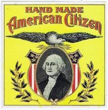 American Citizen, original outer cigar box label, George Washington, eagle