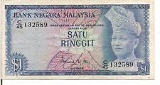 MALAYSIA, 1 RINGGIT, P#1a, Old spelling of DI - PERLAKUKAN, ND(1967-72)