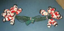 Vintage Santa Claus String Holiday Light Novelty Set Indoor/Outdoor 110Vac