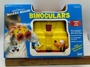RARE ILLCO DISNEY MICKEY MOUSE Donald Duck Pluto Binoculars ~ NEW IN BOX! b4