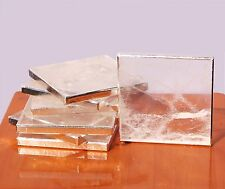Natural Rock Crystal Quartz Coasters Set of 6 Home Table Decoration