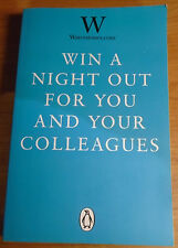 WATERSTONES 'WIN A NIGHT OUT FOR YOU AND YOUR COLLEAGUES' P/B PROOF COPY 2013