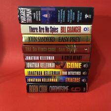 Lot of 9 Murder Mystery Thriller Hardcover Kellerman Cook Sandford Brown
