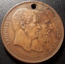 Belgique - module de 5 Francs, Bronze - 50ème anniversaire de la Belgique 1880 !