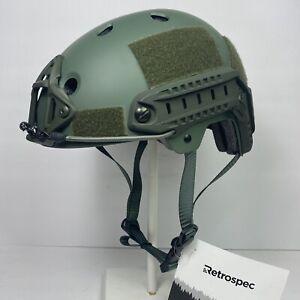 Small Olive OD Tactical Combat Bump Helmet Climbing Rafting BMX Biking NVG Rails