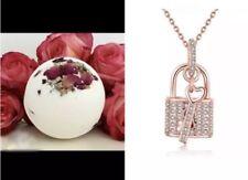 Huge Bath Bomb Diamond Lock & Key To My Heart Rose Gold Stocking Stuffer