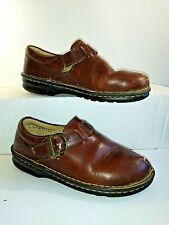 🔴 Born Women's Size 6 M Brown Thick Leather Buckle Shoes Ladies Loafers