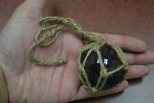 """REPRODUCTION PURPLE GLASS FLOAT BALL BUOY WITH FISHING NET 2"""" #F-365"""