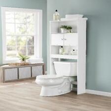 Bathroom Over The Toilet Space Saver Storage Cabinet Shelf Organizer Home White