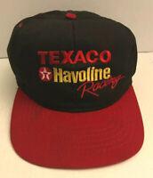 Vintage Texaco Havoline Racing Snapback Baseball Cap Hat Black / Red Gas Oil