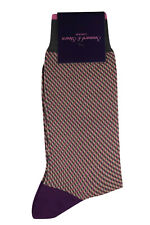 Seaward & Stearn NWT Dress Socks in Dark Grey, Beige and Fuchsia