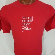 Nike You're Faster Than You Think Red Graphic T Shirt 100% Cotton XL X-Large USA