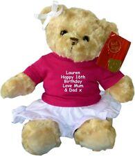 Personalised Birthday Teddy Bear Doll Gift 1st 16th 18th 21st 50th 60th 100th