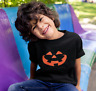 Youth Toddler Pumpkin Face T Shirt Halloween Jack O Lantern Trick Or Treat Scary