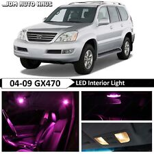 Pink Interior LED Light Bulb Replacement Package Kit Fits Lexus GX470 2003-2009