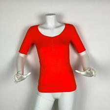Adidas Stella McCartney Studio T Shirt Top Orange Women Sz S New