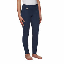 Derby House Gel Full Seat Kids Pants Riding Tights - Navy All Sizes