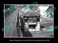 OLD 8x6 HISTORIC PHOTO OF ALTOONA PENNSYLVANIA THE WORKS RAILROAD TOWER c1960
