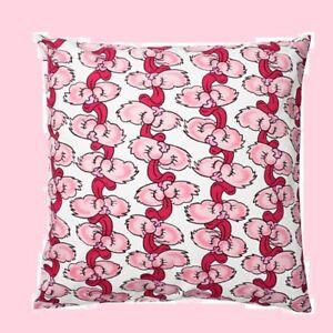 "IKEA Stunsig Cushion Cover 26""Hot Pink Cat Tongue Kitsch Pillow NEW Bunny Rabbit"
