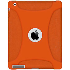 AMZER SILICONE SOFT SKIN JELLY CASE COVER FIT FOR APPLE IPAD 2 - ORANGE
